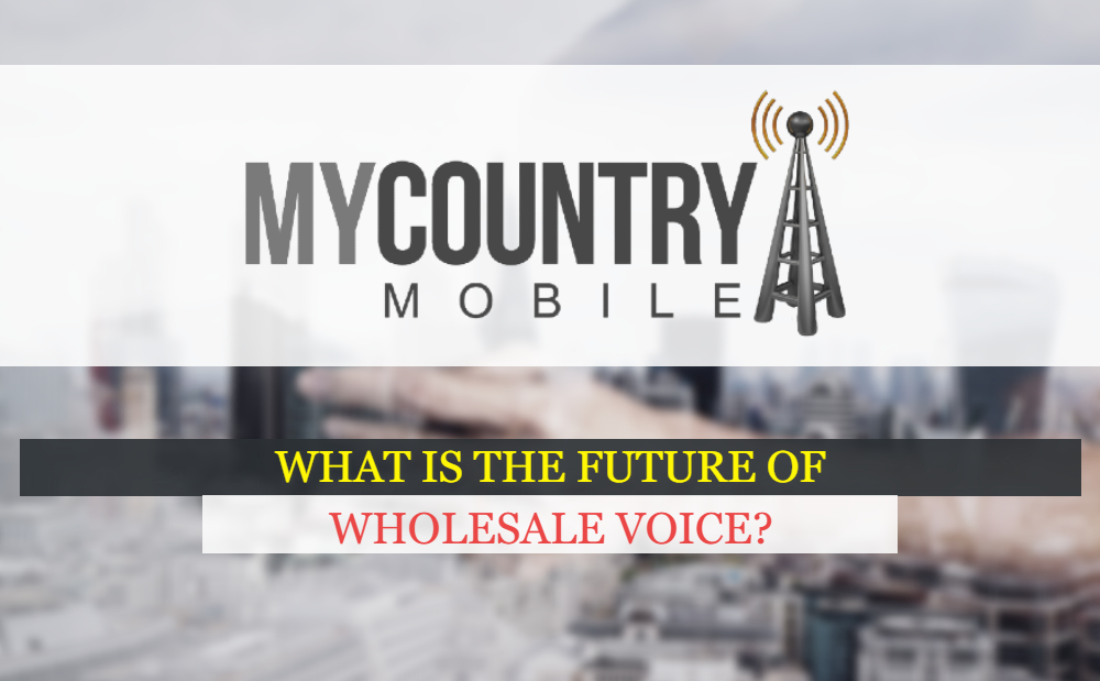 What is the future of Wholesale Voice?-MY COUNTRY MOBILE