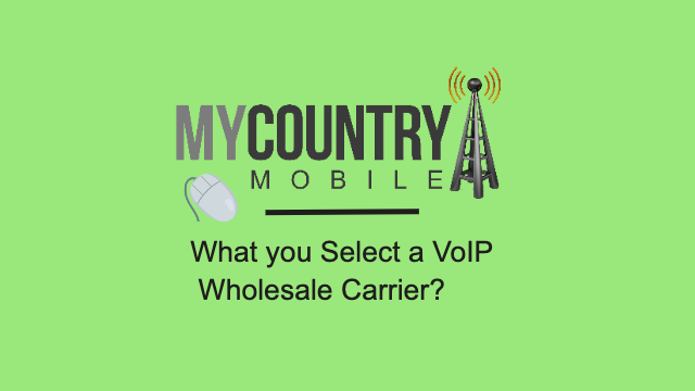 What you Select a VoIP Wholesale Carrier? - My Country Mobile