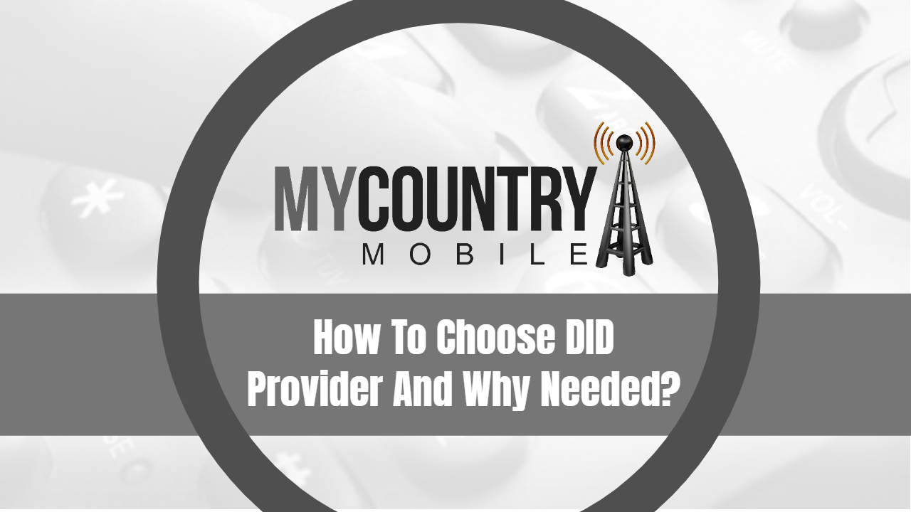 How To Choose DID Provider And Why Needed?-My Country Mobile