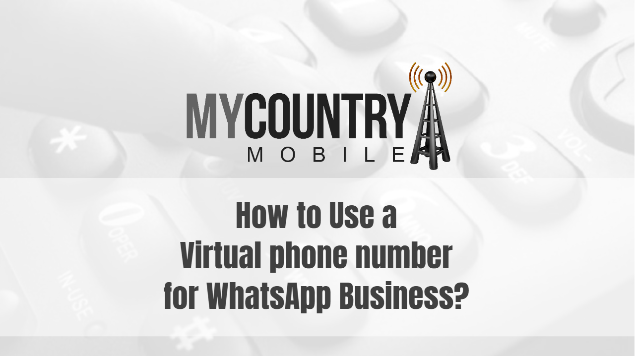How to Use a Virtual phone number for WhatsApp Business?-My Country Mobile