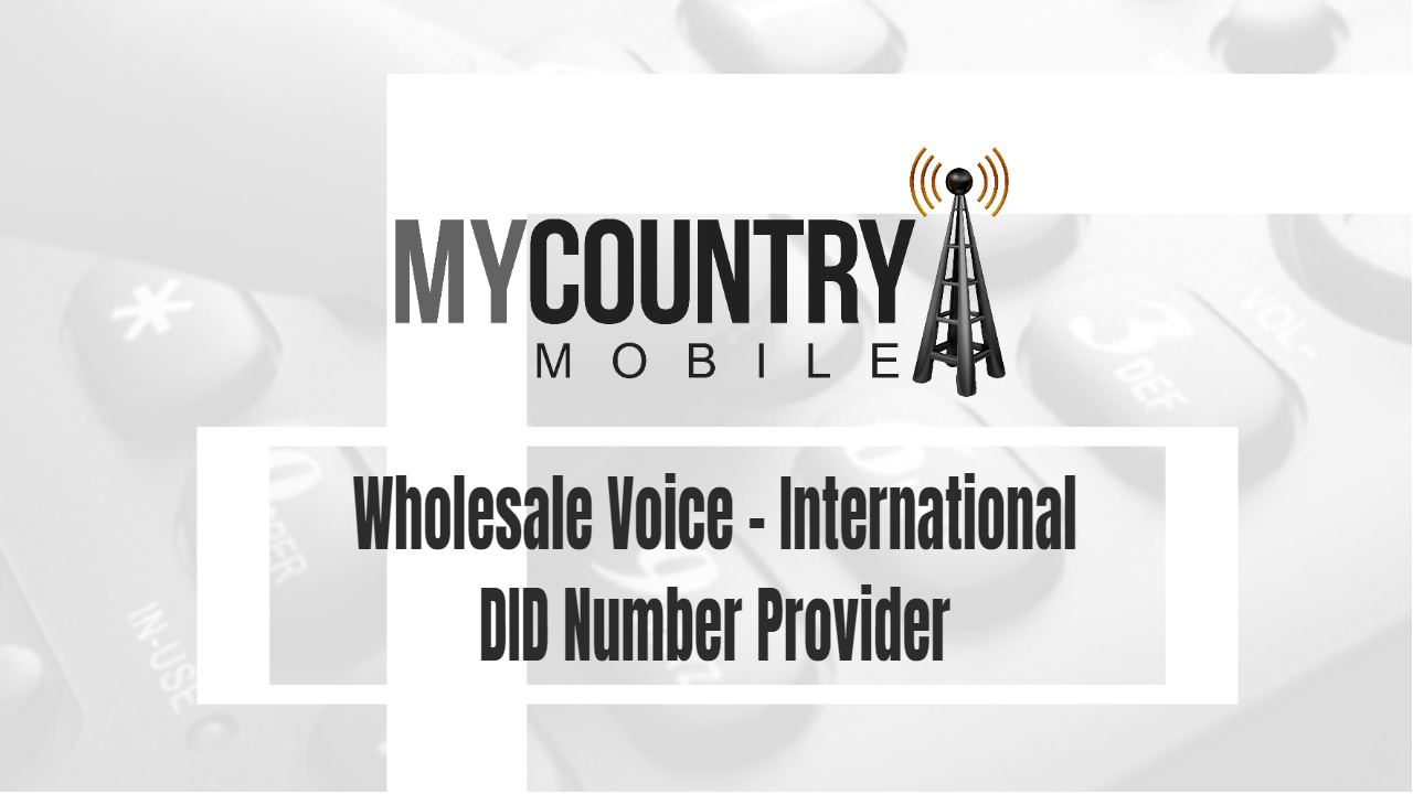 Wholesale Voice – International DID Number Provider-My Country Mobile
