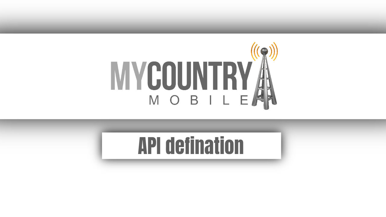 API Definition - My Country Mobile