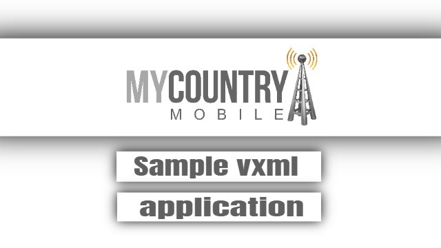 Sample vxml application - My Country Mobile
