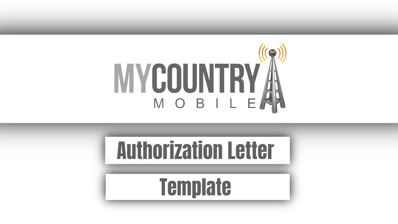 Authorization Letter Template - My Country Mobile