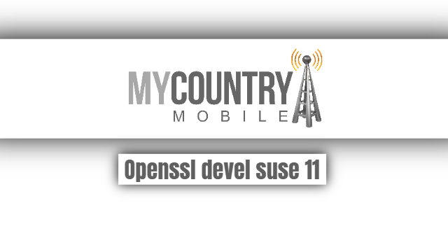 Openssl devel suse 11 - My Country Mobile